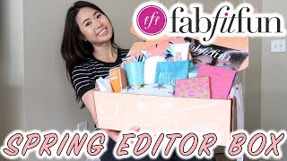 FabFitFun Spring Editor Subscription Box 2018 | Unboxing & Review | Special Edition