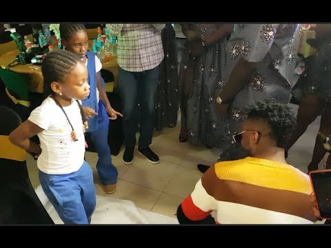 See The Little girls That Killed The Show As 9ice Performs At The Movie Premiere & Launching