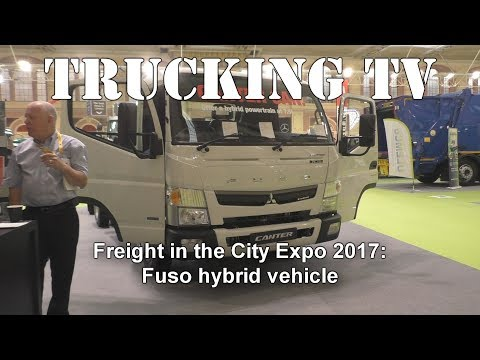 Freight in the City 2017 - Fuso hybrid trucks: