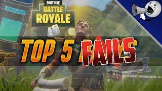Fortnite Battle Royale Top 5 Fails #4: Laggy Deaths; Plane, Baller, Cannon & Zipline Glitches