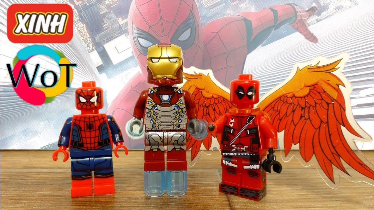 Минифигурки Лего Человек паук возвращение домой и Дедпул с ...