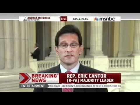 Majority Leader Cantor Discusses The House Rejection Of The Senate