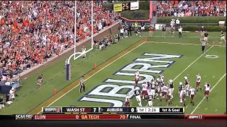 08/31/2013 Washington State vs Auburn Football Highlights