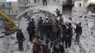 مصر العربية   مقتل 13 مدنيا في قصف على بلدة أريحا السورية
