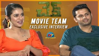 Nithiin And Priya Prakash Varrier Exclusive Interview About Check Movie | NTV ENT
