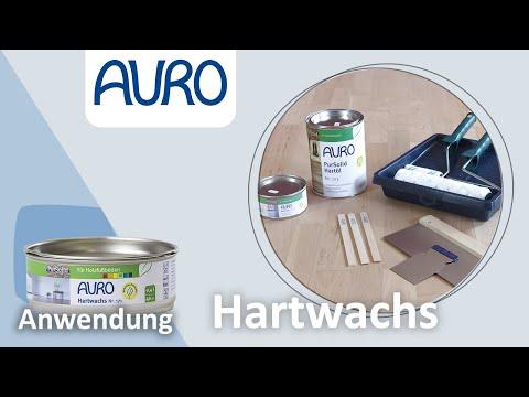 AURO Anwendung Holzboden ölen und wachsen