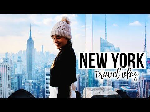 New York City 🗽🍕❤️TRAVEL VLOG (Christmas & Winter Time) ❄️🎄