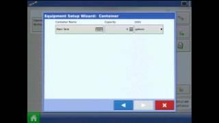 Erstellen einer sprayer-Konfiguration auf der Ag Leader ® Integra/Versa display