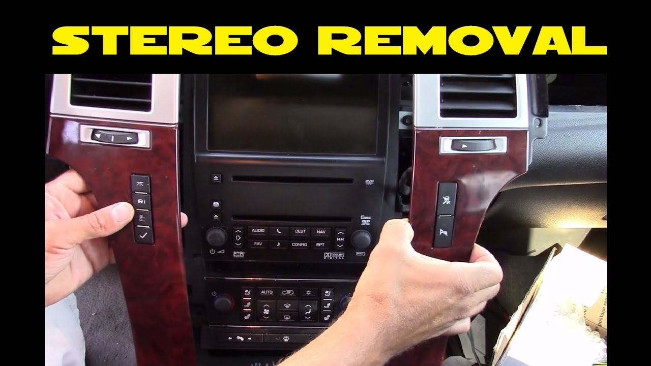 How To Remove Car Stereo In A 2007 2014 Cadillac Escalade