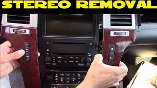 How to remove Car Stereo in a 2007-2014 Cadillac Escalade EXT ESV SUV