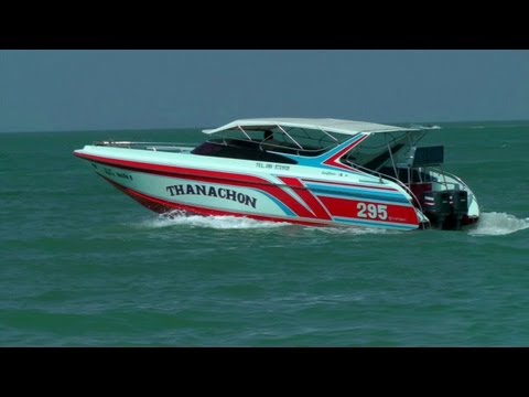 Boats Cruising on Pattaya Bay   Pattaya Beach, Thailand HD Video