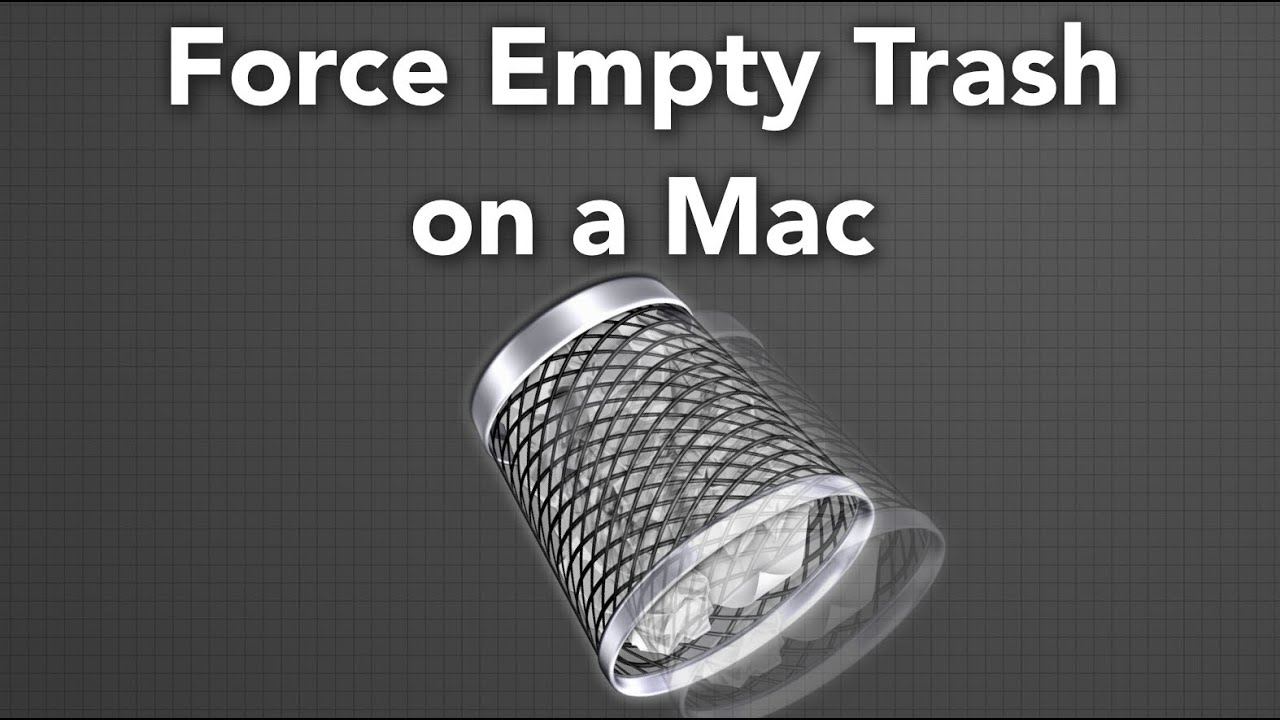 cannot empty trash on my mac file in use