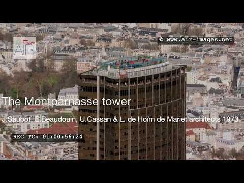 Aerial Footage Paris District and tower Montparnasse