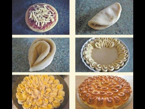 закусочные пироги с мясом и творогом