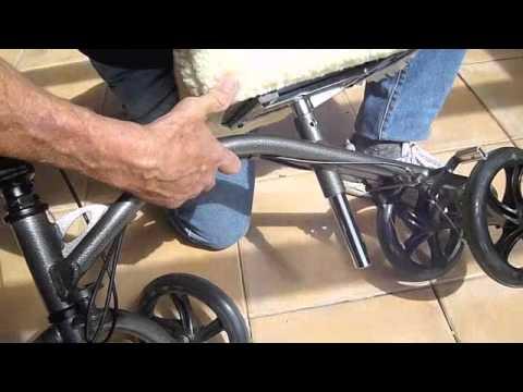 Walker Transport Chair In One Hugo Navigator Cushions Canada Just Walkers: Medline 3-wheel Knee | Doovi