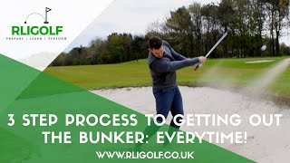 3 Step Process To Getting Out The Bunker Everytime!
