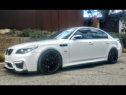 modified bagged bmw e60 m5 smg one take youtube. Black Bedroom Furniture Sets. Home Design Ideas