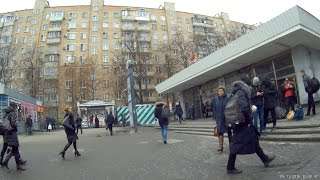 Вход на станцию метро Речной вокзал 09.11.2016