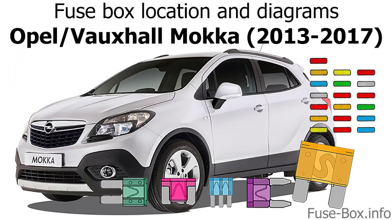 fuse box location and diagrams opel vauxhall mokka 2013 2017  [ 1280 x 720 Pixel ]