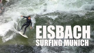 Surfing Eisbach In Germany