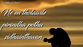 Nee en arugil iruntha pothu paranthavan feeling song @@Deekshiraj Editzz@@