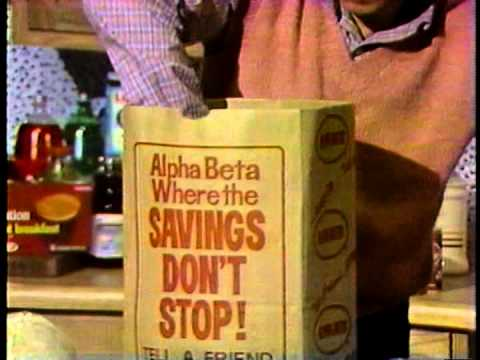 1982 Alpha Beta supermarket commercial