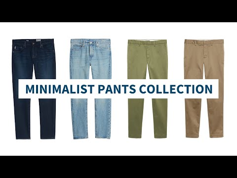 The Minimalist Pants Collection // Jeans, Chinos And Dress Pants