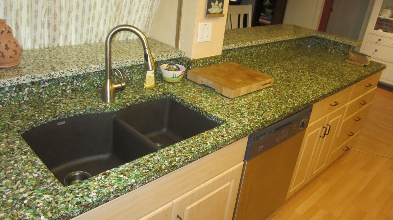 Vetrazzo Bistro Green Countertops Youtube