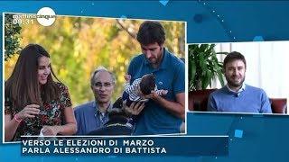 Alessandro Di Battista .ospite a Canale5/Mattino5 20/2/2018
