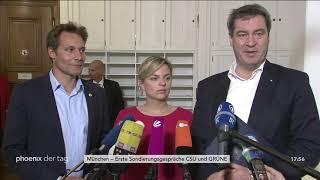 Statements zur Sondierung der CSU und der Grünen am 17.10.18