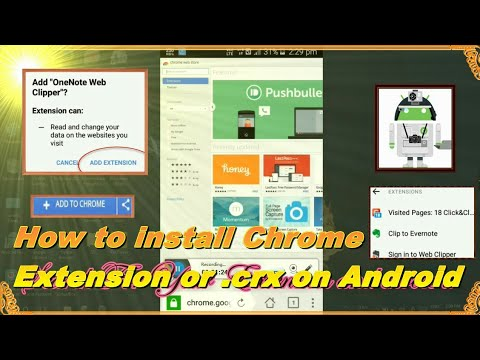 How To Install CRX or Chrome Extension in Android online