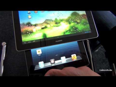 Huawei MediaPad 10 FHD vs. Apple iPad 3 - english @ IFA 2012
