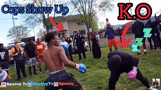 """PUT ON THE GLOVES! """"PUBLIC BOXING!"""" D1 ATHLETE BOXES?!** GIRL KNOCKOUT?!**"""