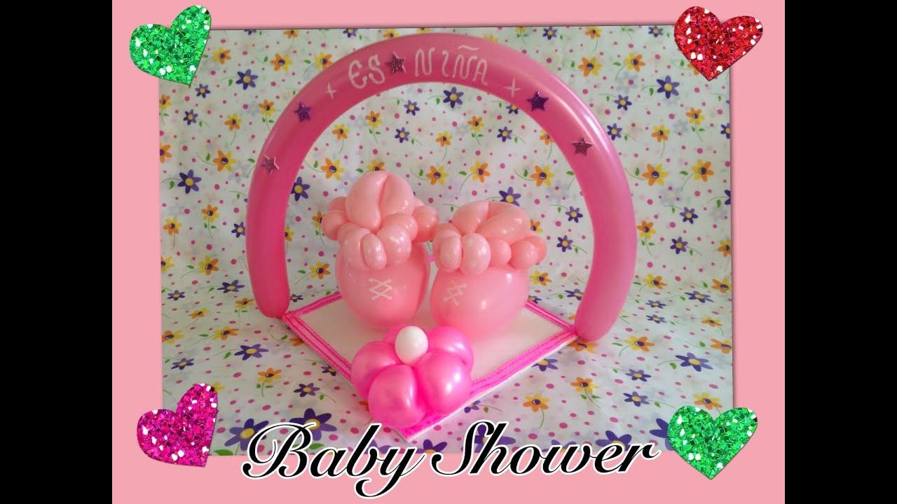 zapatitos para centros de mesa en baby shower youtube