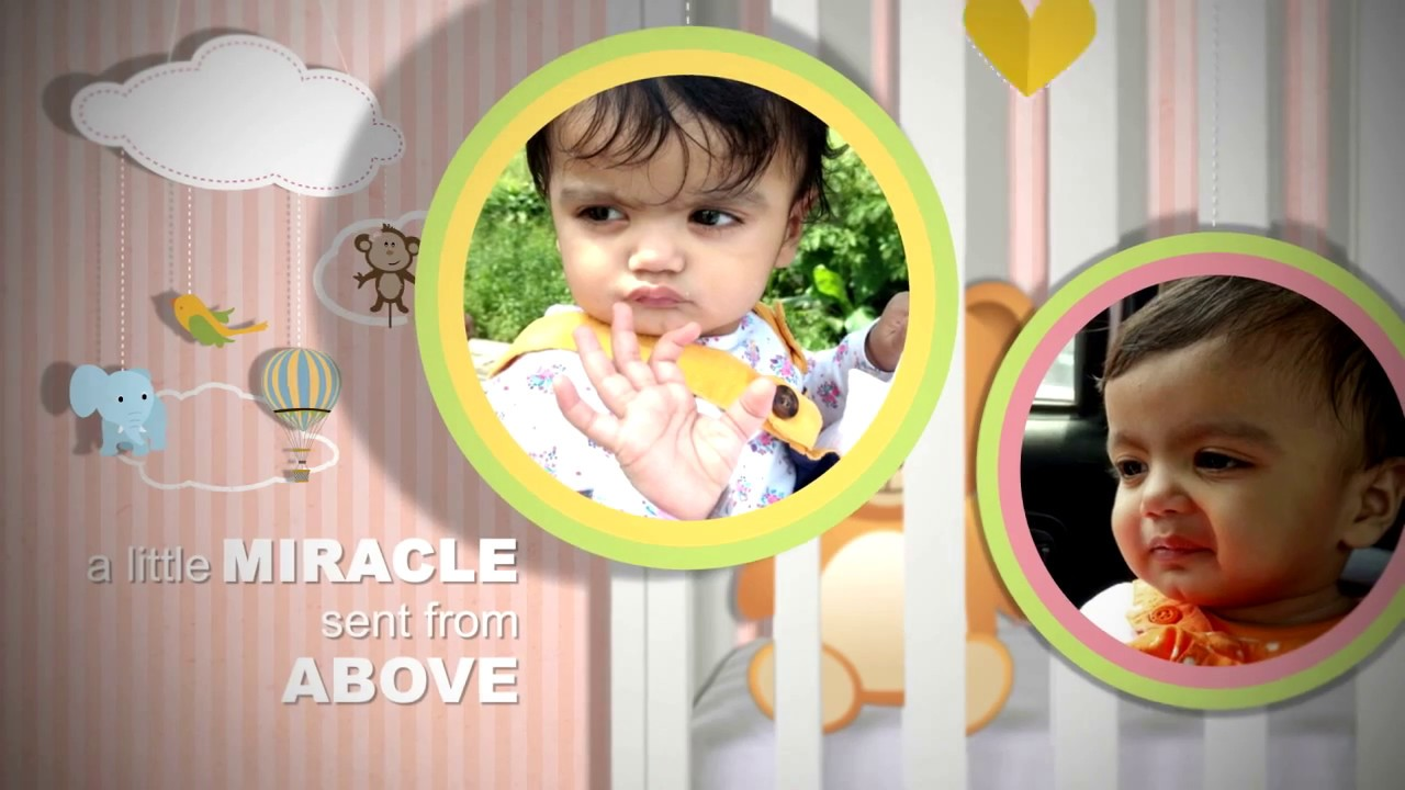 Birthday Invitation Video for Baby Girl || Pink Theme - YouTube