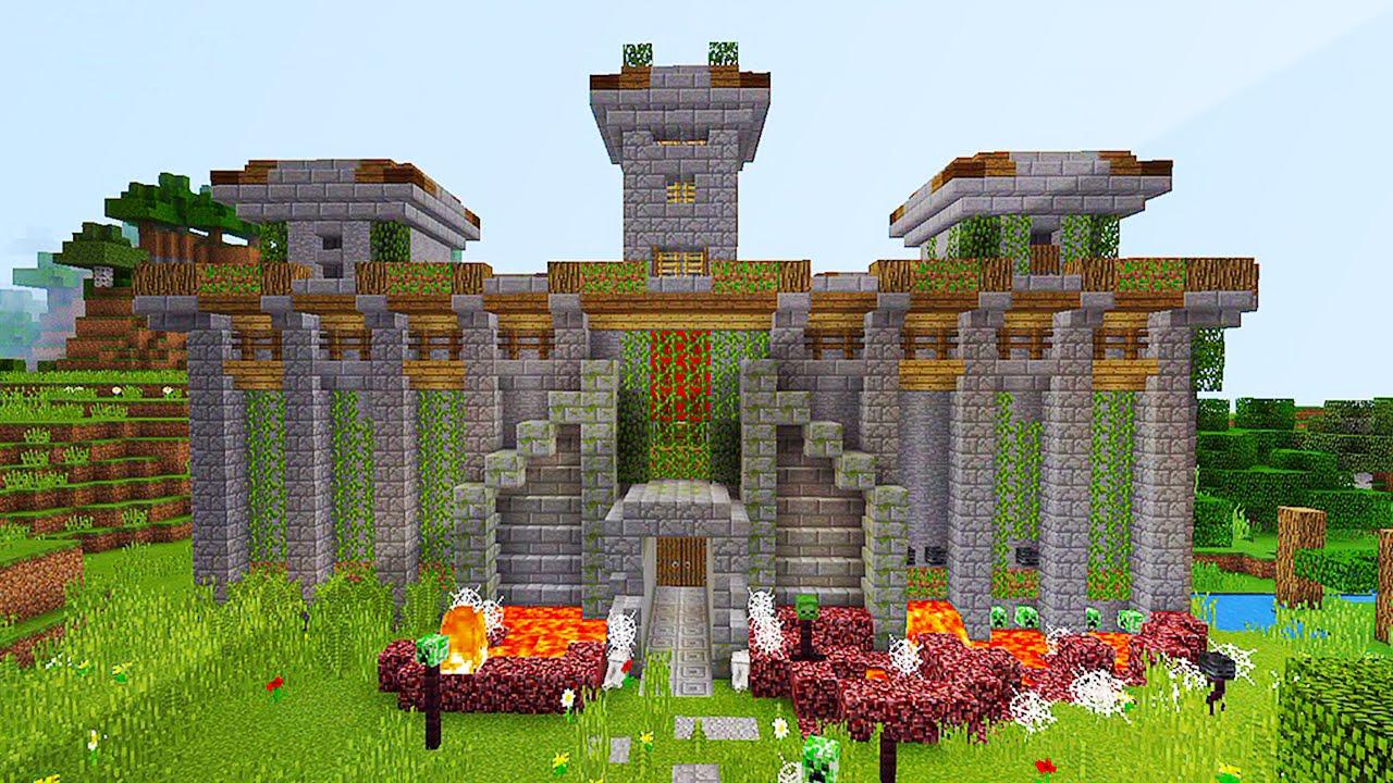 AMAZING REDSTONE CASTLE IN MCPE (Minecraft Defense Base ...