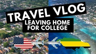 Travel Vlog #4: Leaving Home For College!  Jamaica to USA | International Student Chronicles