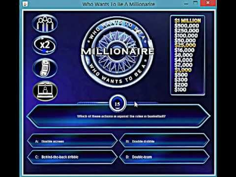 Who wants to be a millionaire java game youtube for Who want to be a millionaire game template