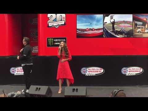 National Anthem at Nascar Auto Club Speedway.