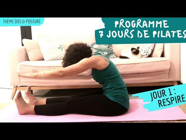 JOUR  1 : 7 jours de Pilates pour le dos