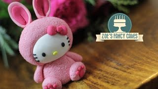 Hello Kitty cake topper in bunny costume