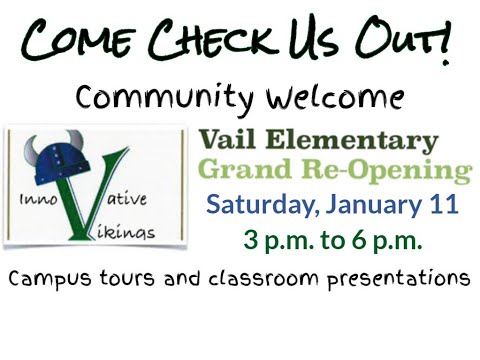 Vail Elementary School Vikings SAIL - Grand Reopening Event January 11, 2020