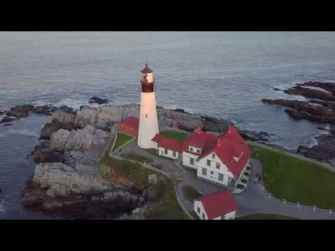 Maine Vacation by Drone - 4K