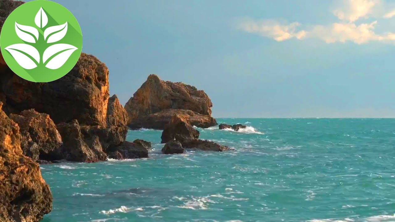 Ocean Waves & Rocks. 10 Hours of Sea Noise & Waves Sounds.