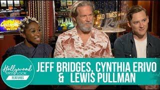 Jeff Bridges, Cynthia Erivo & Lewis Pullman   Bad Times At The El Royale (2018) Interview