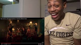 Marc Anthony, Will Smith, Bad Bunny - Está Rico (Official Video) REACTION  lamontdidit