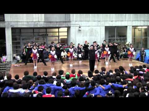 紺碧の空 稲稜祭 早稲田本庄應援部