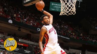 How is it humanly possible that Derrick Jones Jr. can jump this high?!   The Jump Video