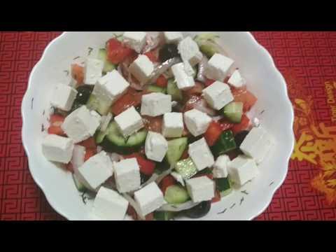 Греческий салат за считанные минуты/гости будут просить рецепт)