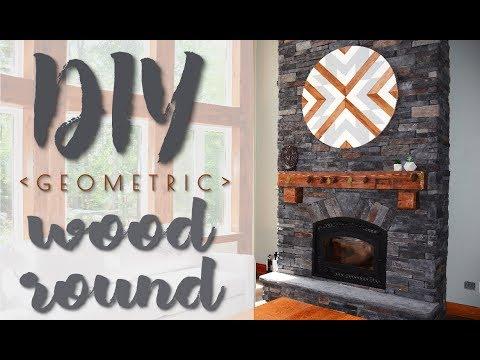 DIY Geometric Wood Round